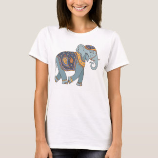 Kvinnor för skjorta för Indien elefant T T Shirts