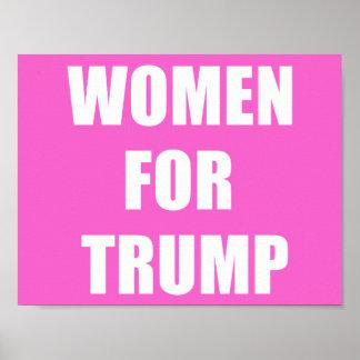 Kvinnor för trumf poster