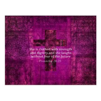 Kvinnor för Verse för bibel för Proverbs31:25 Vykort