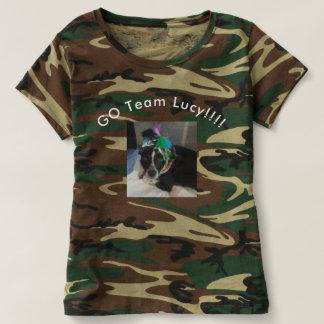 Kvinnor går den LAGLucy Camo skjortan Tee Shirt