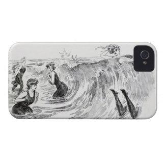 Kvinnor i havet - vintagekonst av Gibson iPhone 4 Case