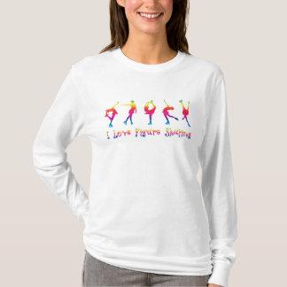 kvinnor - jag älskar konståkningen som är ljusa tröja
