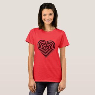 Kvinnor som är bästa med spiral hjärta t shirts