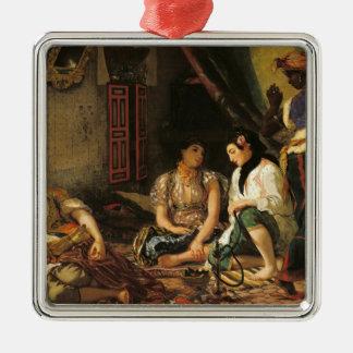 Kvinnorna av Algiers i deras lägenhet, 1834 Julgransprydnad Metall
