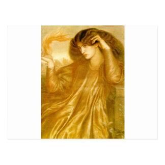 Kvinnorna av flamma av Dante Gabriel Rossetti Vykort