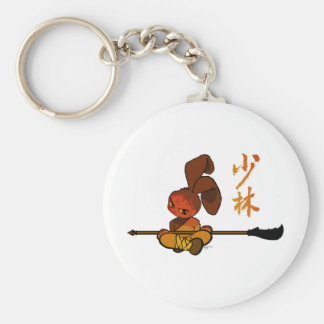 kwan dao för järnshaolinkanin rund nyckelring