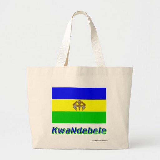 KwaNdebele flagga med namn Tote Bags
