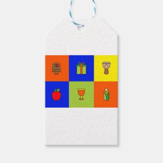 kwanzaa colorblock presentetikett