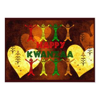Kwanzaa dansare 12,7 x 17,8 cm inbjudningskort