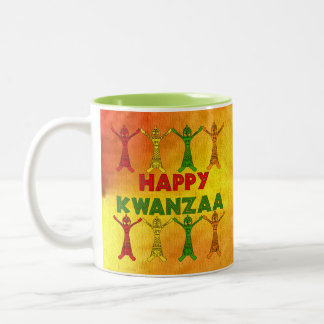 Kwanzaa dansare Två-Tonad mugg