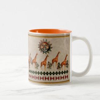 Kwanzaa giraff Två-Tonad mugg