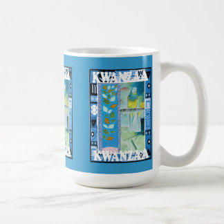 Kwanzaa mugg, blom- design kaffemugg