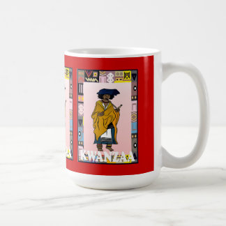 Kwanzaa mugg, etnisk dam kaffemugg