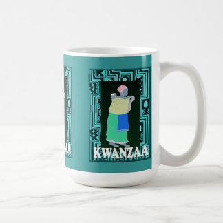 Kwanzaa mugg, mor och barn kaffemugg