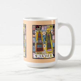 Kwanzaa mugg, stam- folk kaffemugg