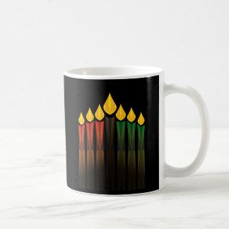 kwanzaa stearinljus kaffemugg