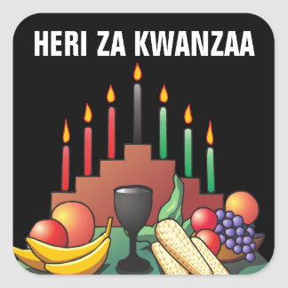 Kwanzaa välsignelse fyrkantigt klistermärke