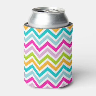 Chevrons Stripe colorful Can Cooler
