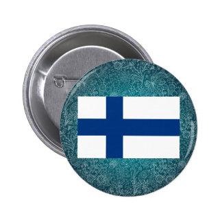 Kylig flagga av Finland Standard Knapp Rund 5.7 Cm