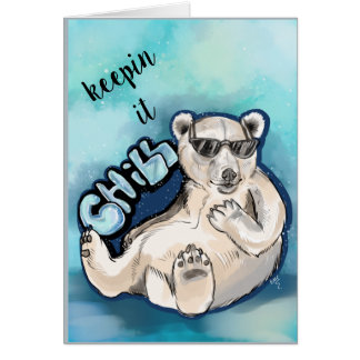 Kylig polar björn hälsningskort