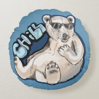 Kylig polar björn rund kudde