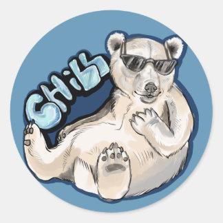 Kylig polar björn runt klistermärke
