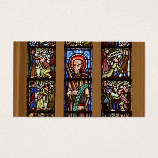 kyrk-fönster, glas-mosaik visitkort