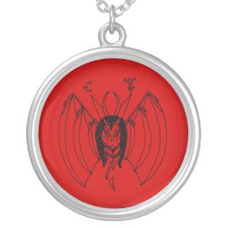Kyrka av den Ahriman amuletten Halsband Med Rund Hängsmycke