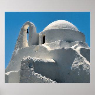 Kyrka av Panagia Paraportiani, Mykonos, Grekland Poster