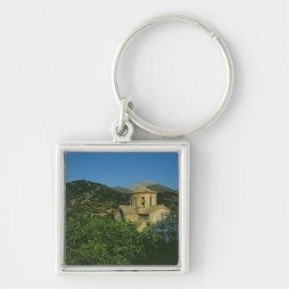 Kyrka av Panayiaen Fyrkantig Silverfärgad Nyckelring