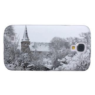 kyrka i snö galaxy s4 fodral