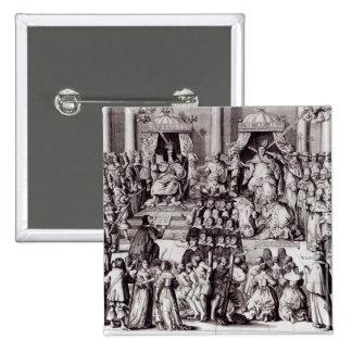 Kyrkan av England mot papacyen Standard Kanpp Fyrkantig 5.1 Cm