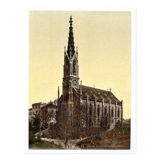 Kyrkan av Unterstrasse, Zurich, Schweitz vi Vykort