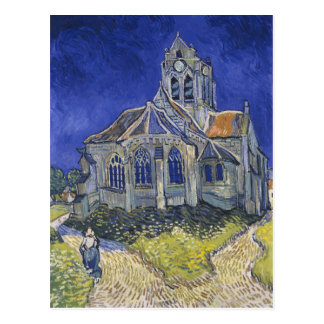 Kyrkan i Auvers av Vincent Van Gogh Vykort