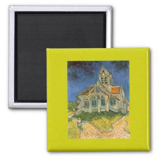 Kyrkan på Auver av Vincent Van Gogh Magnet