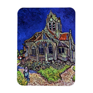 Kyrkan på Auvers av Vincent Van Gogh 1890 Magnet