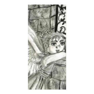 Kyrklig ängel reklamkort