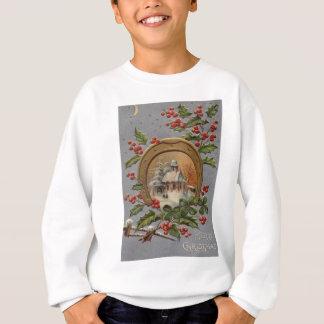 Kyrklig hästsko för järnekjulgranguld tee shirt