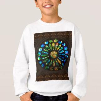 Kyrklig vägg stjärna befläckte Windows på gåvor T-shirts