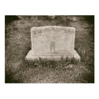 Kyrkogård för kyrkogård för gravsten antikvitet vykort