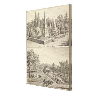 Kyrkogård mycket Sacto, res-skogsmark Canvastryck