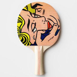 Kyss V - Lichtenstein - vintagepopkonst Pingisracket