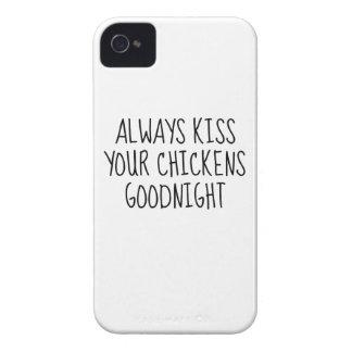 Kyssa alltid dina hönor Goodnight Case-Mate iPhone 4 Skydd