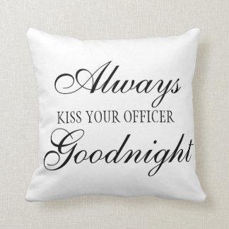 Kyssa alltid ditt kommenderar Goodnight kvadrerar Kudde