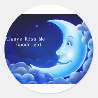 kyssa alltid mig den bra natten runt klistermärke