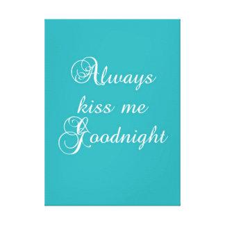 Kyssa alltid mig Goodnight Canvastryck