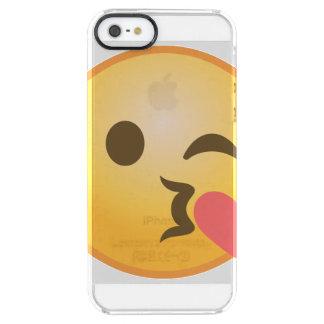 Kyssa blinka Emoji Clear iPhone SE/5/5s Skal