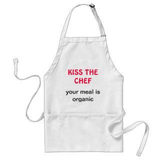 Kyssa den organiska kocken förkläde