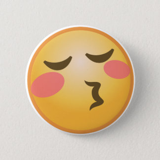 Kyssa Emoji Standard Knapp Rund 5.7 Cm
