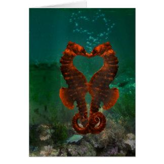 Kyssa för Seahorses Hälsningskort
